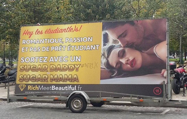 'Sugar daddies' dating site targeting hard-up Paris students sparks outrage in France