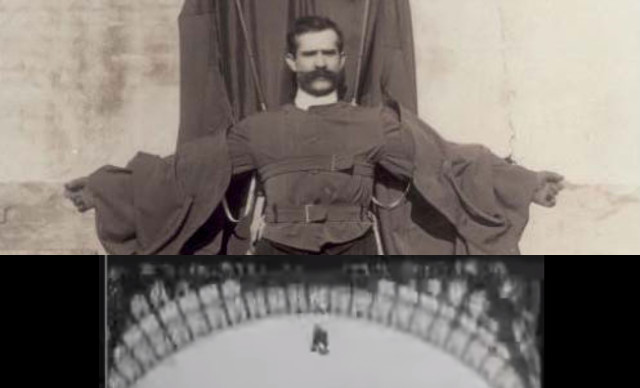 VIDEO: The story of the inventor whose Eiffel Tower jump went horribly wrong