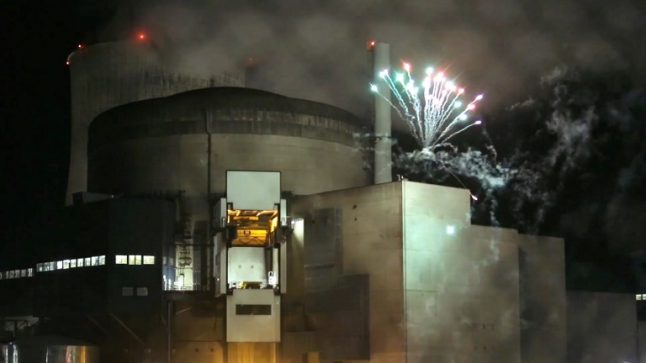 Greenpeace activists set off fireworks at nuclear plant in France