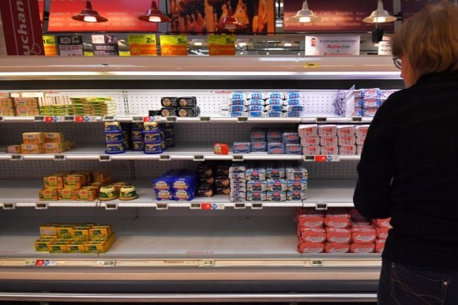 French butter shortage eases in time for Christmas