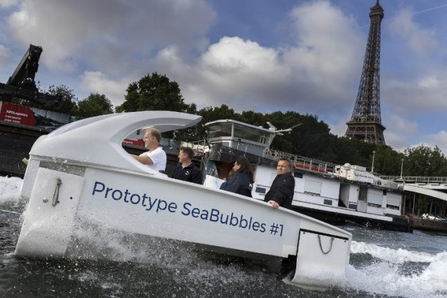 Paris: 'Flying' water taxis back on course to take to River Seine