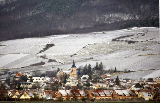 IN PICTURES: Parts of France turn into winter wonderland as first snowfall arrives