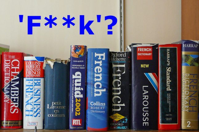 The word 'f**k': Too blue for English but no taboo in French