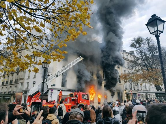 Huge blaze ravages iconic bookstore and gallery in Paris