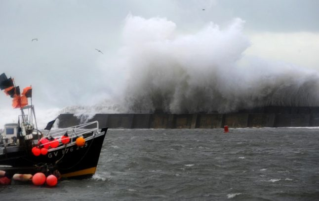 Northern France on alert for high winds of up to 130km/h