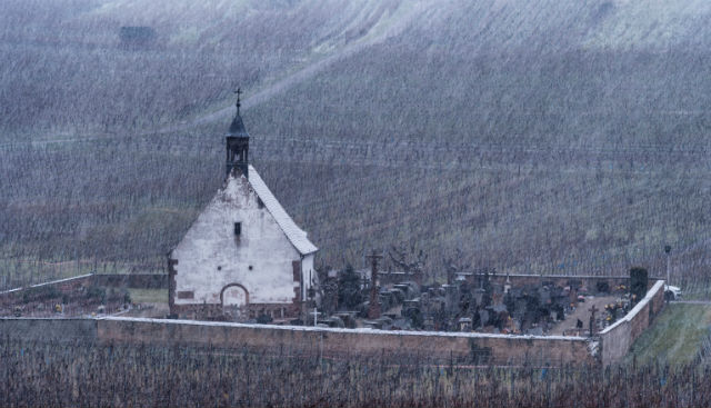 Snow and sleet forecast for parts of France including Paris region