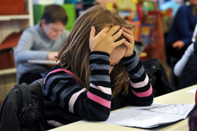 French school children ranked worst at reading in Europe