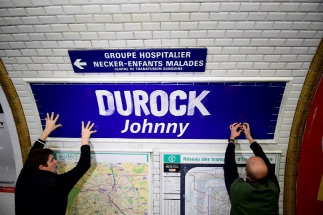 Paris renames Metro station after French rock legend Johnny Hallyday