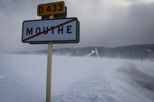 Why is Mouthe the 'coldest village in France'?