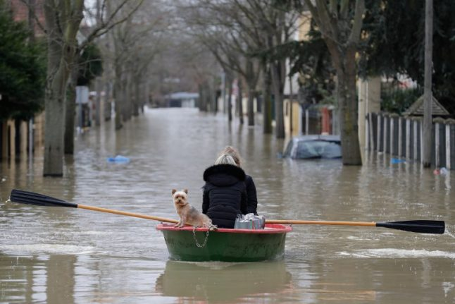 IN PICTURES: Parts of France left submerged as flood waters rise