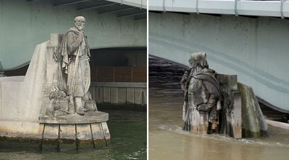 Before and after pictures show extent of River Seine floods in Paris