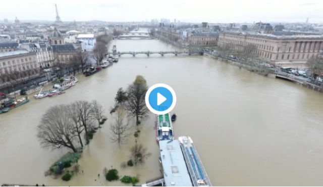 VIDEO: Stunning images of Paris floods captured by drone