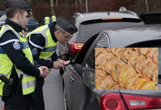 French police fine driver for eating foie gras at the wheel... whilst watching a film