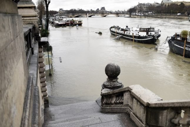 Paris: Flooded River Seine set to top 5.7 metre mark as water levels rise