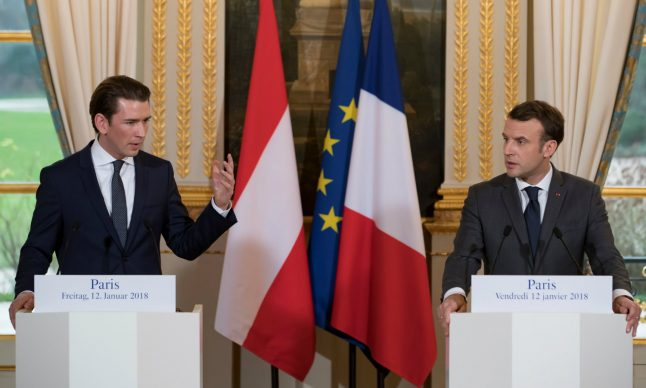 Austria's leader during France visit: 'Judge us on our actions'