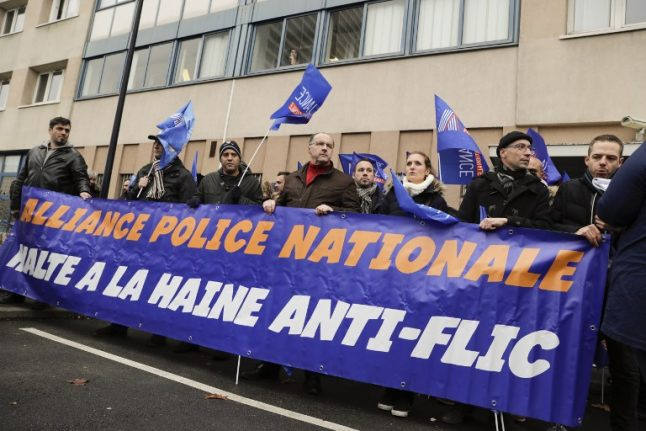 French police take to streets in protest after 'savage' New Year attacks