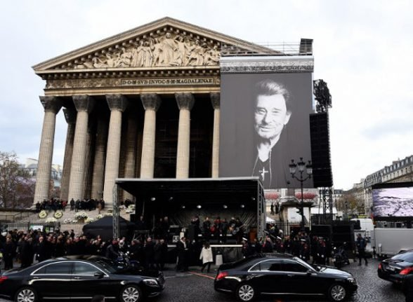 Paris: La Madeleine to hold monthly mass in homage to Johnny Hallyday