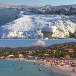 In Pictures: Corsica's beaches covered in blanket of snow