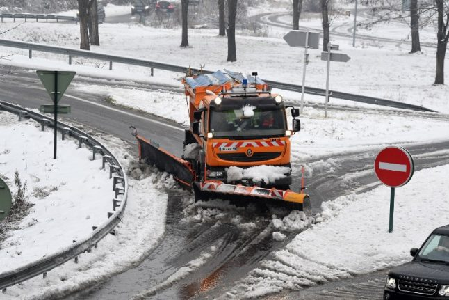 Snow leaves much of France on alert as big chill bites