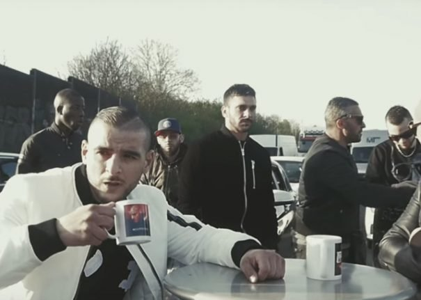 French rapper sentenced for blocking motorway with restaurant table and chairs