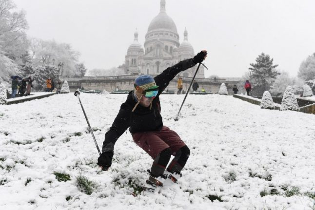 In Pictures: Snow turns France into winter wonderland
