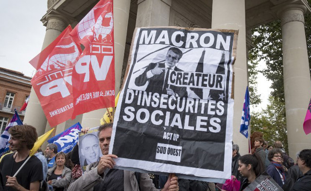 Strikes and protests present Macron first big test - will he pass?