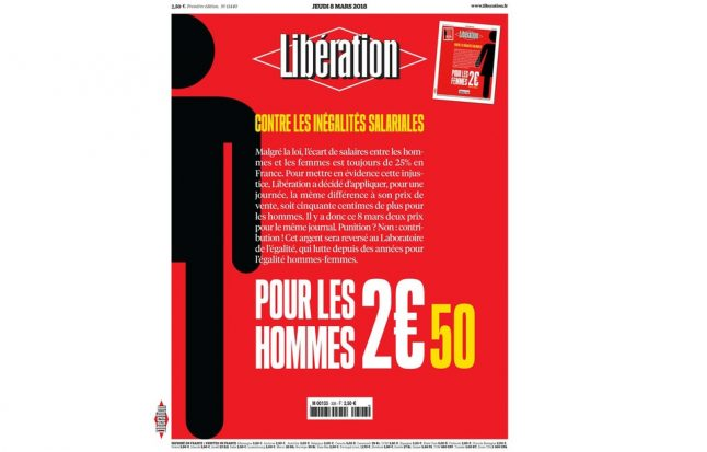 French newspaper charges men 50 cents more on Women's Day