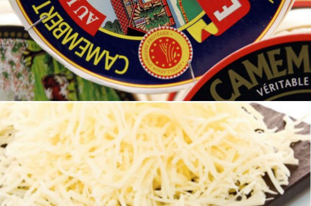 Grated Camembert! Who said the French were stuck in their ways?