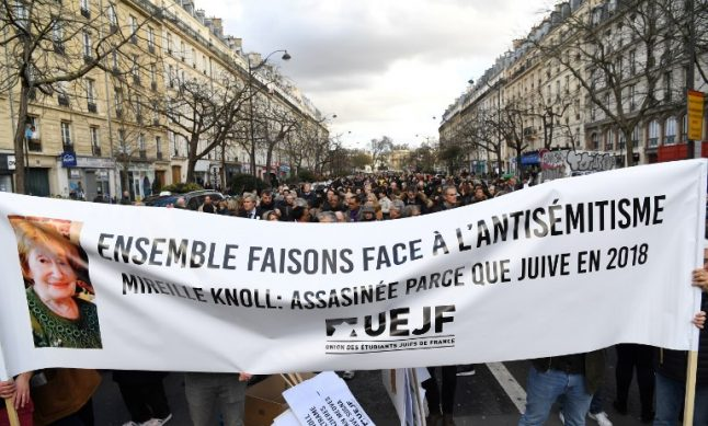 Thousands march against anti-Semitism in Paris after murder of Jewish grandmother