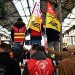 French rail workers press ahead with latest two-day strike