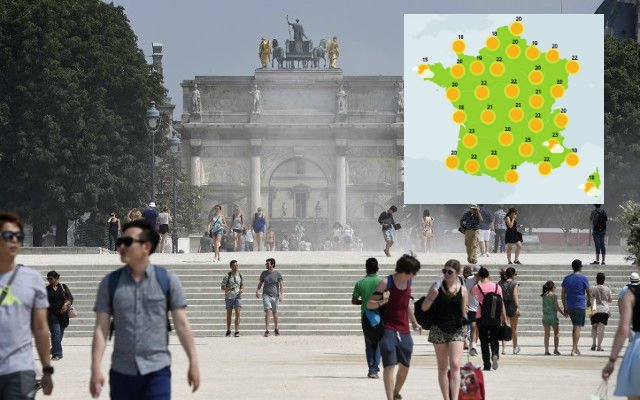 France to get early taste of summer with mercury set to hit 28C