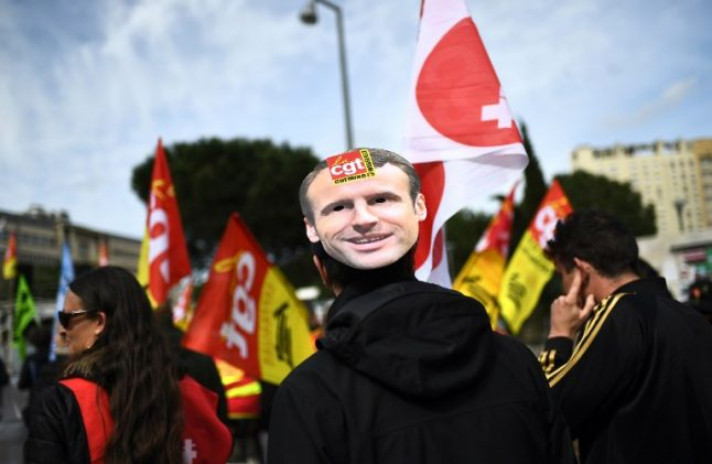 Sixty percent of French 'unhappy' with Macron as protests grow