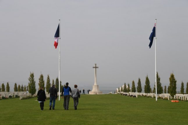 Australians flock to French WWI battle site 100 years on