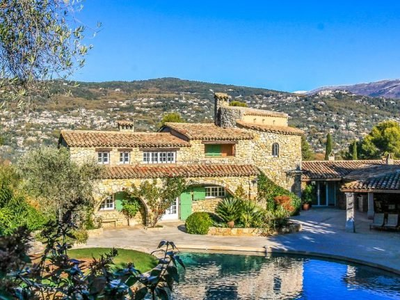 French Property of the Week: Luxury stone villa in hills above Côte d'Azur
