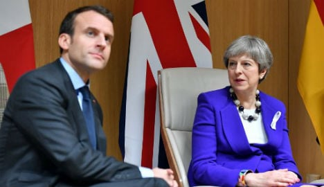 Macron and May issue joint tweet on chemical weapons