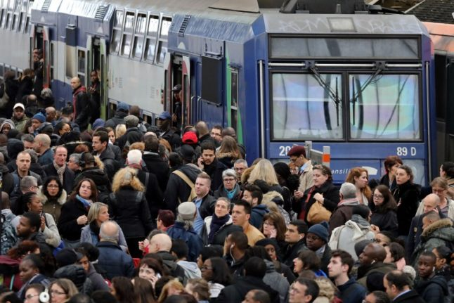 In Pictures: Rail strikes lead to travel chaos across France