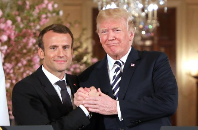 'Bromance' between Macron and Trump draws late night laughs in US