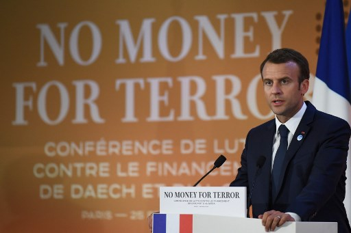 Macron calls on global community to cut off funds to extremists