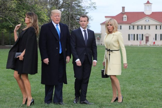 'Desperate housewives and gorillas': The photos of Macron's US visit that got the internet talking