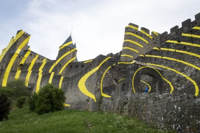 Artist's makeover of Carcassonne's historic fortress angers locals