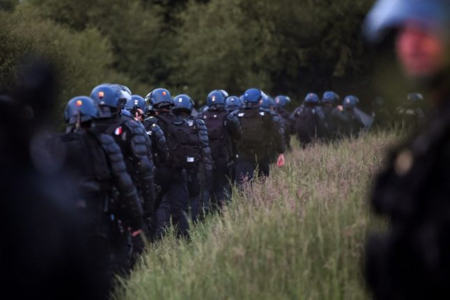 1,500 French riot police launch new assault on protest camp in western France