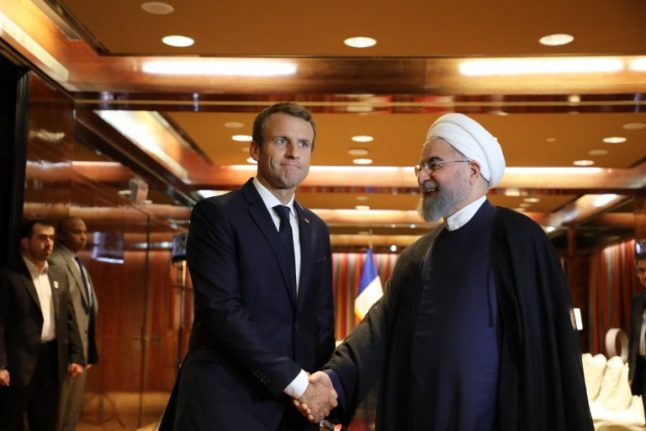 France's Macron and Iran's Rouhani agree to stick to landmark nuclear deal