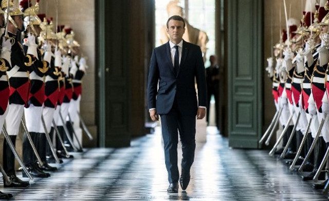 In pictures: Macron's year as France's 'Republican king'