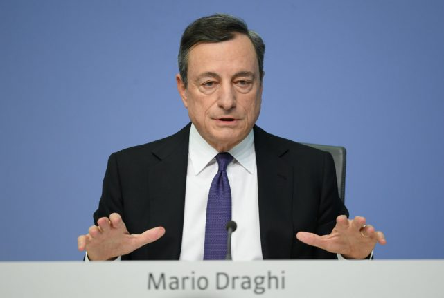 Draghi urges eurozone solidarity as Macron pushes reforms