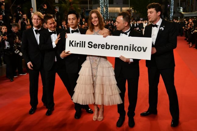 Detained Russian director gets standing ovation at Cannes