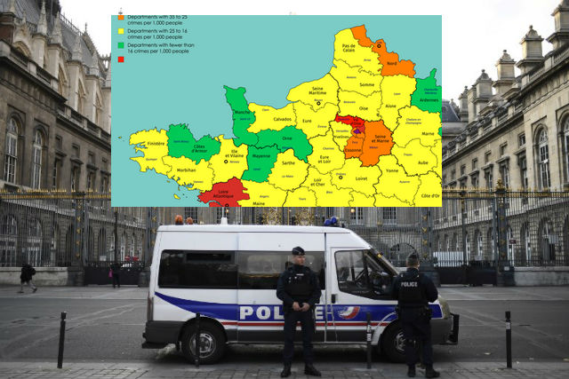 Map: Where in France you are most likely to be a victim of crime