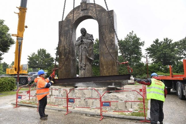 Religious statue moved in France after unholy row in Breton town