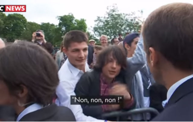 WATCH: 'Non, non, non!' - Macron hands out a tongue-lashing to cheeky French teen