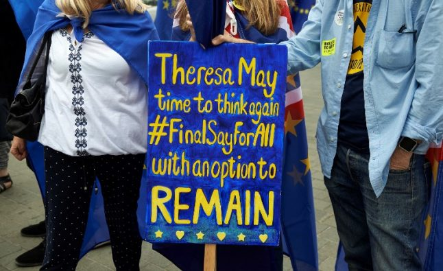 Brits in France join London march to demand referendum on final Brexit deal