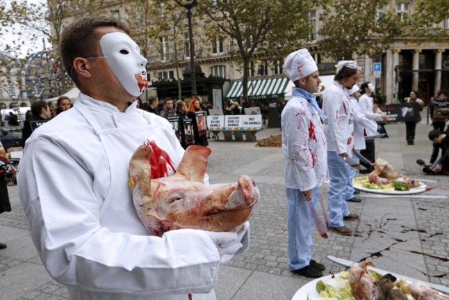French butchers ask for police protection from violent vegan activists